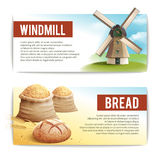 Bread Banner Set Stock Images