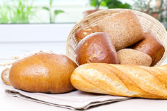 Bread in bascket Stock Photos
