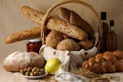 Bread in basket Stock Photo