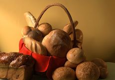 Bread basket. In still life Stock Photo
