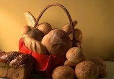 Bread basket. In still life stock photo