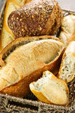 Bread in basket Royalty Free Stock Images