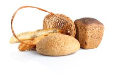 Bread & basket Stock Image