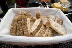 Bread in basket Royalty Free Stock Photography