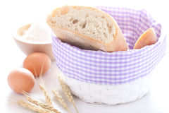 Bread in a basket Stock Photos
