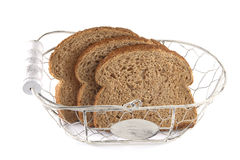 Bread in basket Royalty Free Stock Photos