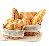 Bread in a basket. Royalty Free Stock Photo