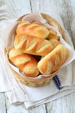 Bread in a basket Stock Images