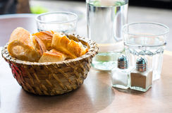 Bread in basket Stock Photos