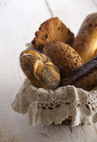 Bread in a basket Stock Photo
