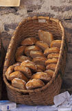 Bread basket. A traditional bread basket at market Royalty Free Stock Photo