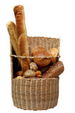 Bread basket. Pastry breads in the basket Royalty Free Stock Images