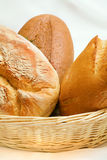 Bread in a basket. Some loaves of bread in a basket Royalty Free Stock Photo