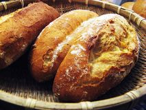 Bread in the basket Stock Photo