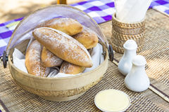 Bread in the basket Stock Photos