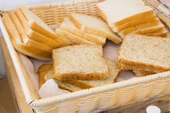 Bread in basket Stock Photos