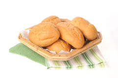 Bread basket of dinner rolls Royalty Free Stock Image
