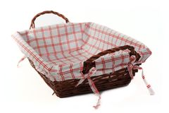 Bread basket with focus on an handle Royalty Free Stock Photography