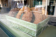 Bread on basket Royalty Free Stock Image