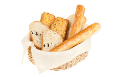 Bread in basket Stock Photo