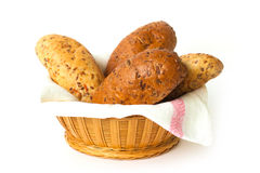 Bread  in the basket Royalty Free Stock Image