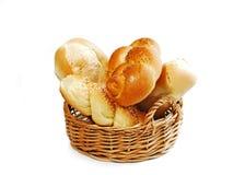 Bread Basket On White Royalty Free Stock Photos