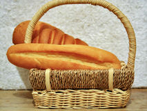 Bread in the basket p1 Stock Photos