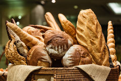 Bread in Basket. royalty free stock images