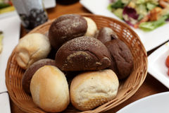 Bread in a basket Stock Photography