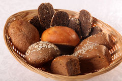 Bread basket on white backgroung Stock Images