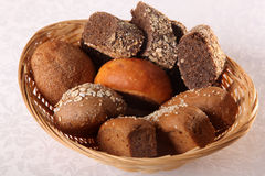 Bread basket on white backgroung Stock Photography