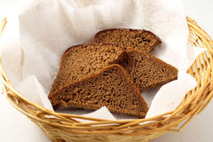 The bread in a basket Stock Image