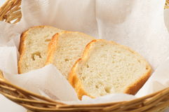 The bread in a basket Stock Images