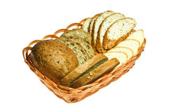 Bread in Baskets Stock Image
