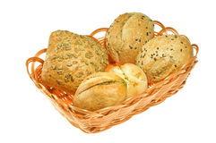 Bread in Baskets Royalty Free Stock Images