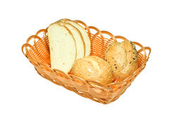 Bread in Baskets Stock Images