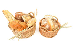 Bread baskets Royalty Free Stock Photography