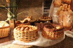 Bread baskets Stock Photos