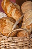 Bread in basquet Stock Photos