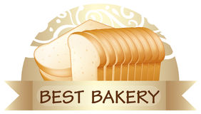A bread with a best bakery label Stock Images