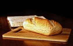 Bread and Bible Royalty Free Stock Images