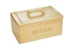 Bread bin. Wooden bread bin on white background Stock Image