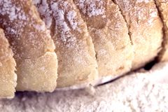 The bread bio. For restaurant royalty free stock photos