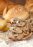 Bread Biscuits and flour Royalty Free Stock Images