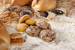 Bread Biscuits and flour Stock Image