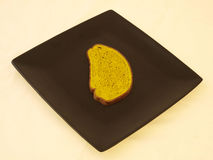 Bread on black Stock Images