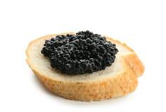 Bread with black caviar Royalty Free Stock Photo