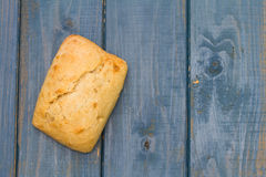 Bread on blue Royalty Free Stock Photography