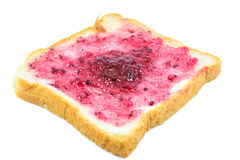 Bread with blueberry jam Stock Images