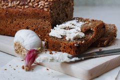 Bread on board Royalty Free Stock Photography